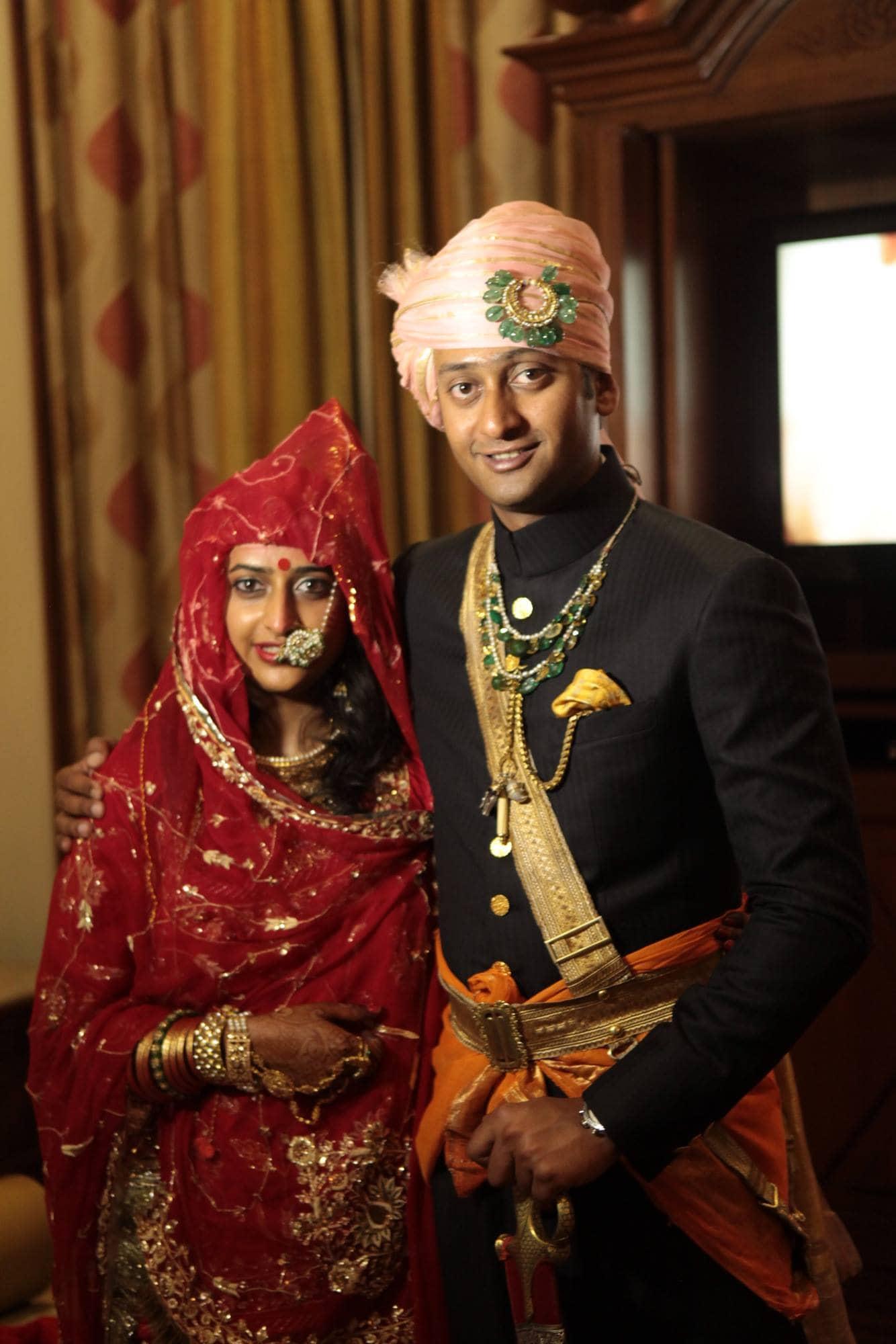 Padmini with her brother, Pratap Singh Rathore