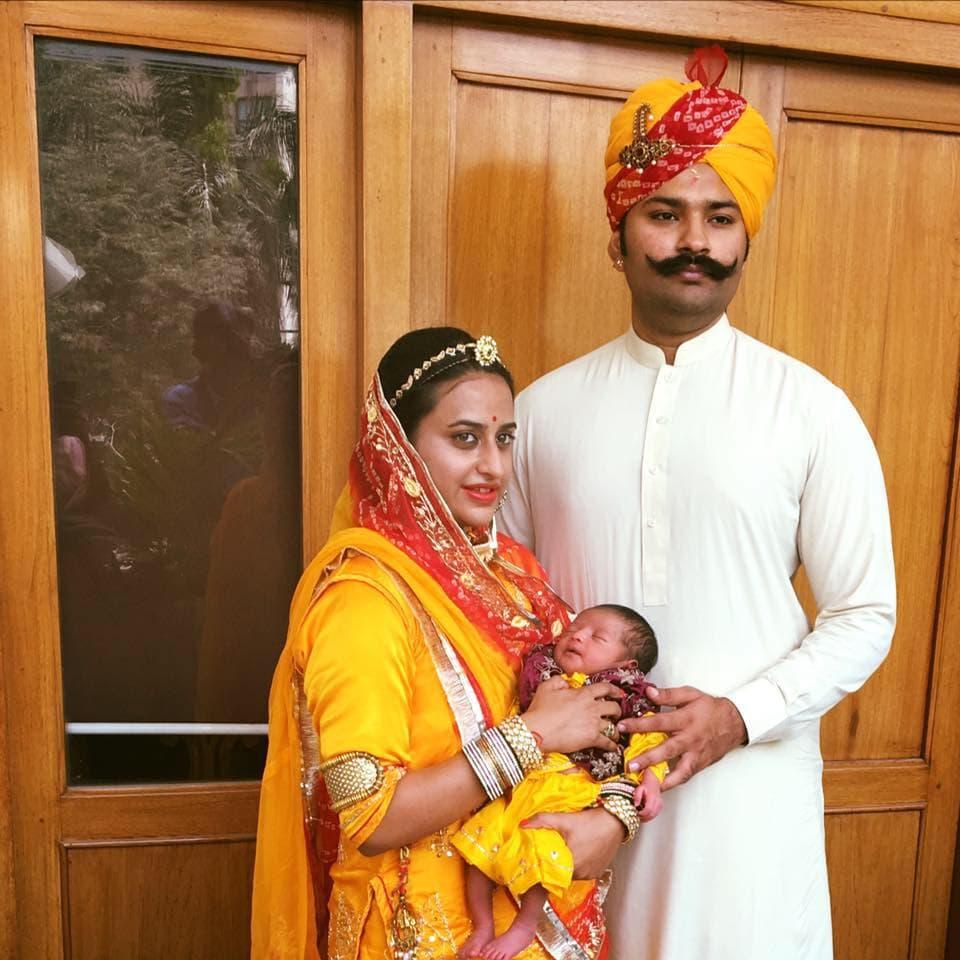 Padmini Kumari with her husband