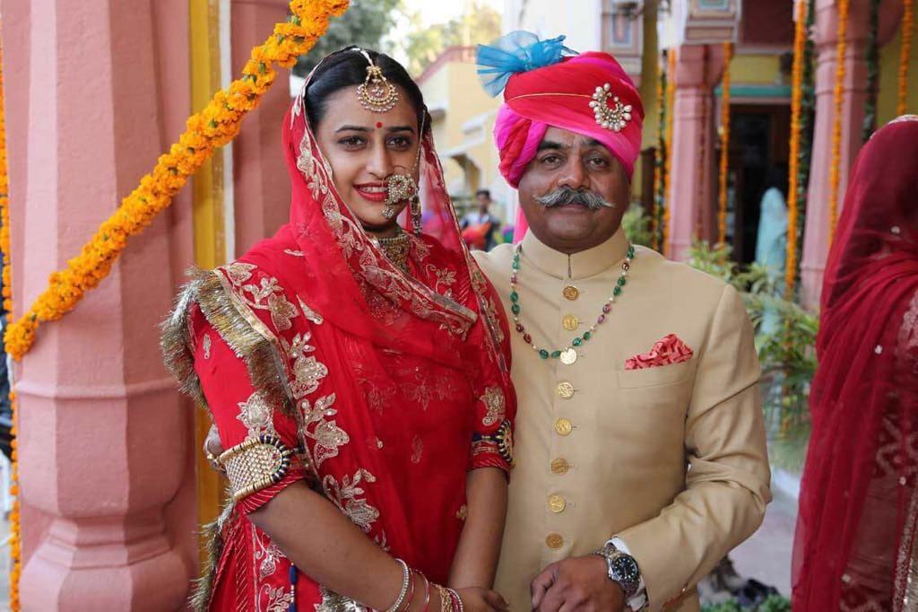 Padmini and her father, Motif Singh Rathore