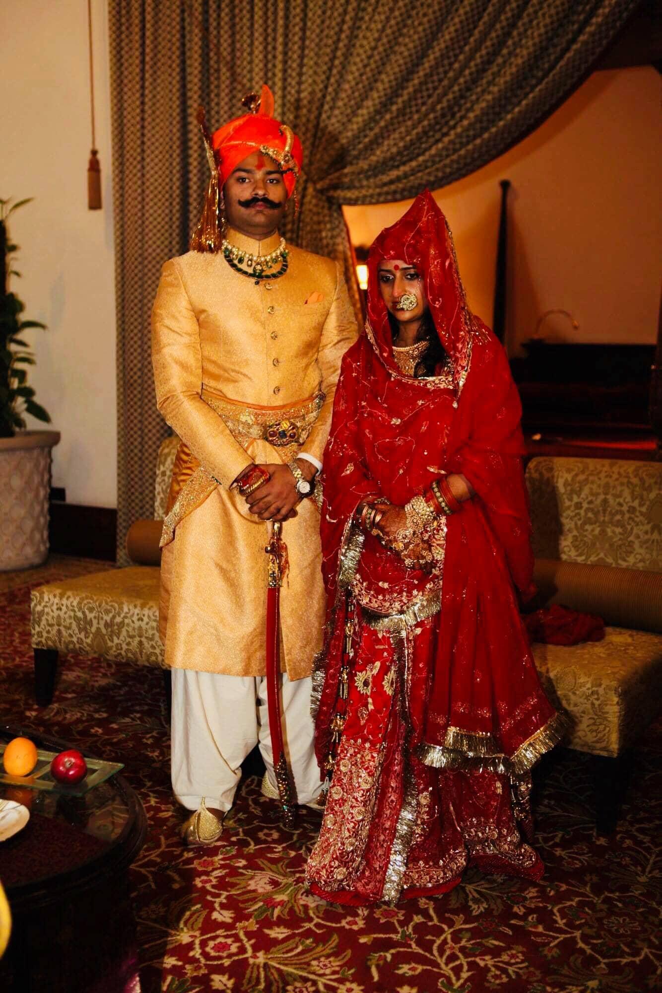Padmini with her husband, Karni Singh Sodha