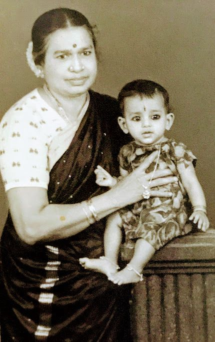 The author with her grandmother.