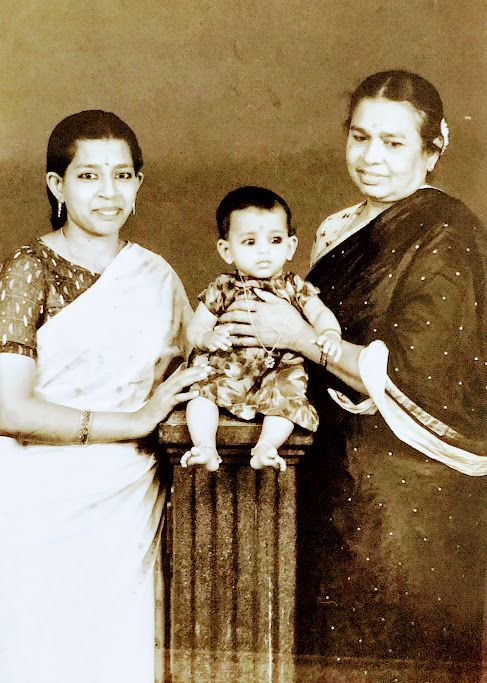 The author with her mother and grandmother.