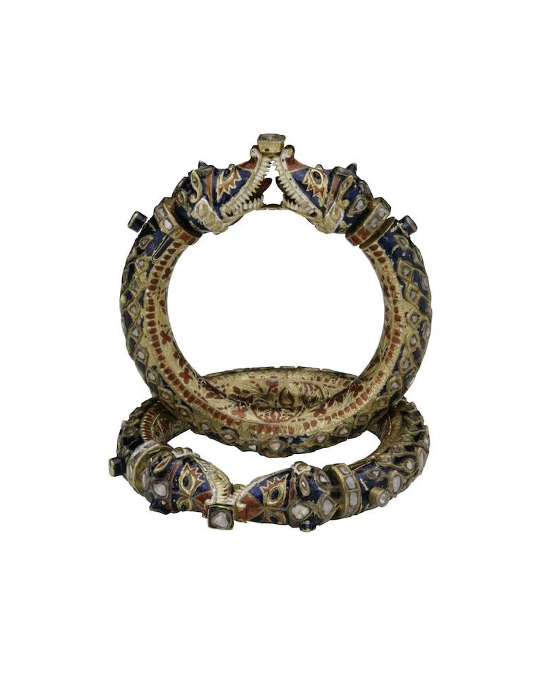 Bracelets with Confronting Makara Heads (Karas)