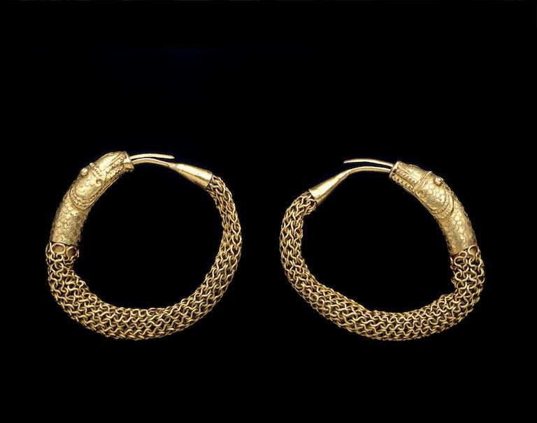 19th Century Snake Earrings from Bengal