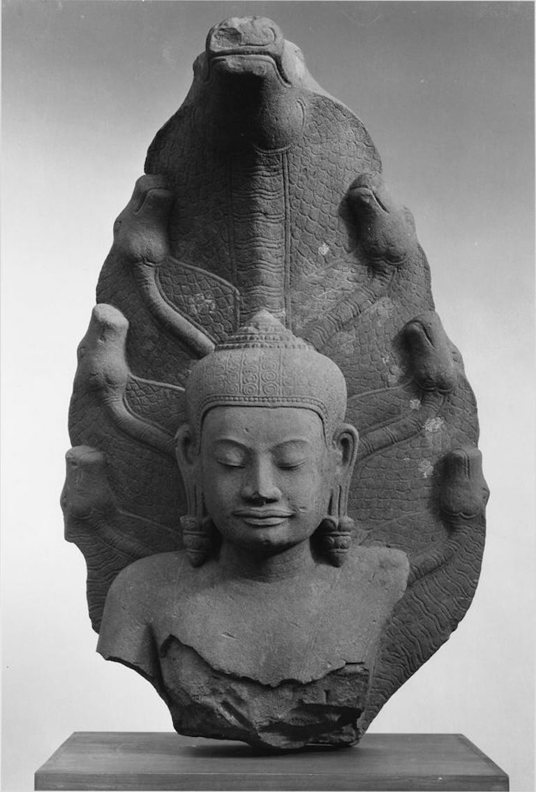 Buddha protected by a 7 headed snake, Mucalinda.