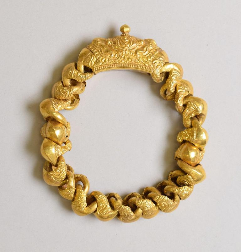 Gold Anklet 19th century South India