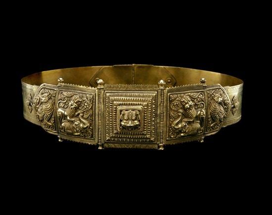 Oddiyaanam. Waist belt. 19th century. MFA, Houston.