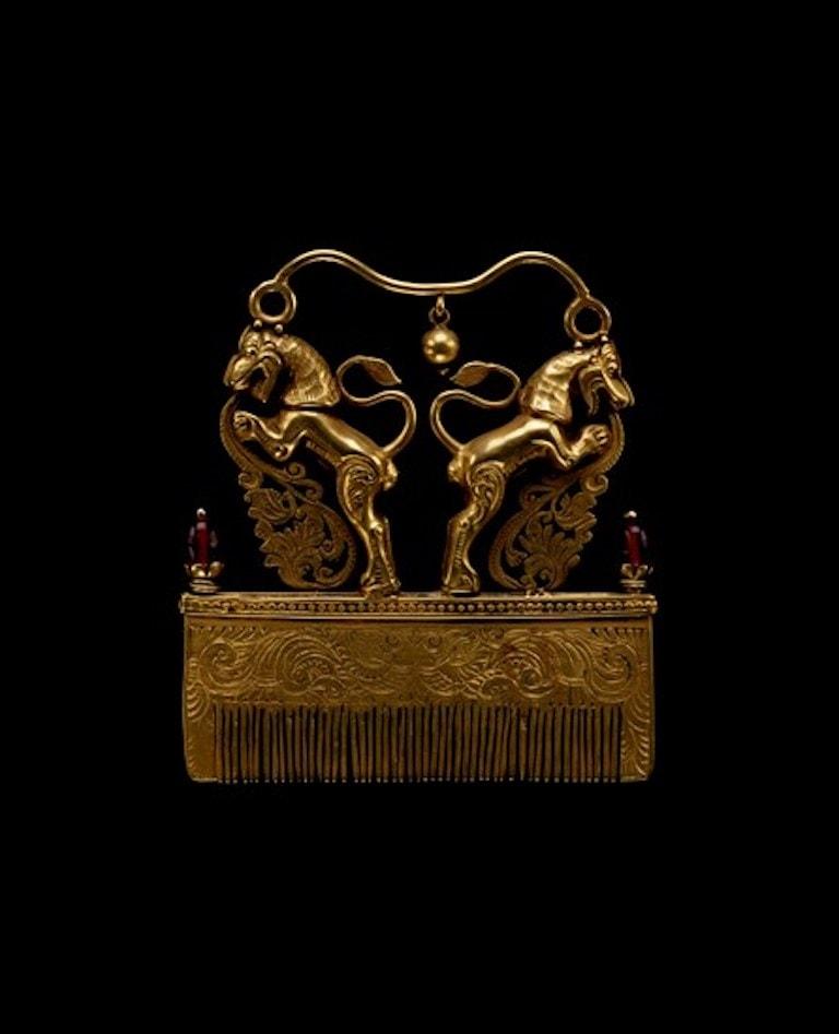 Gold Hair Comb. MFA, Houston. 19th century