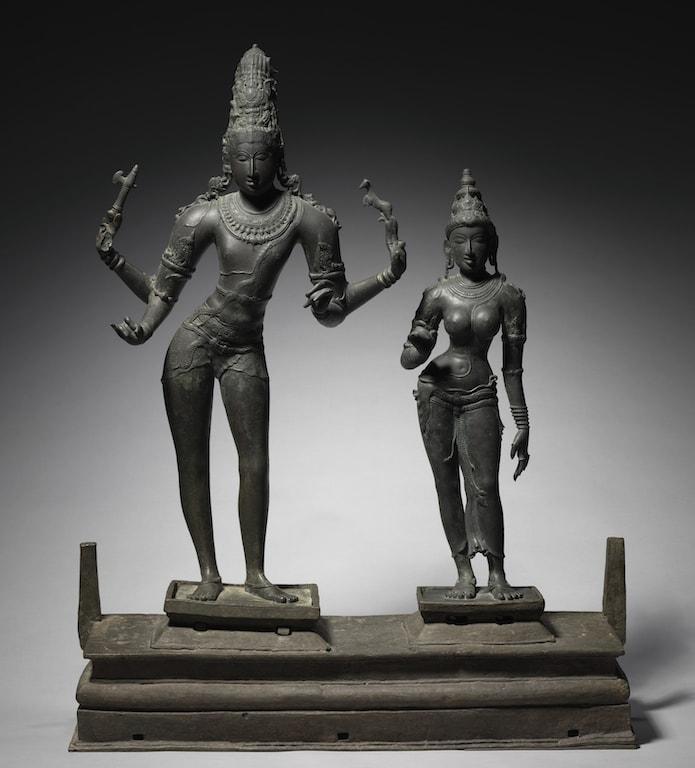 Shiva and Parvati. 10th century. Chola Bronzes. Cleveland Museum. c. 950-960