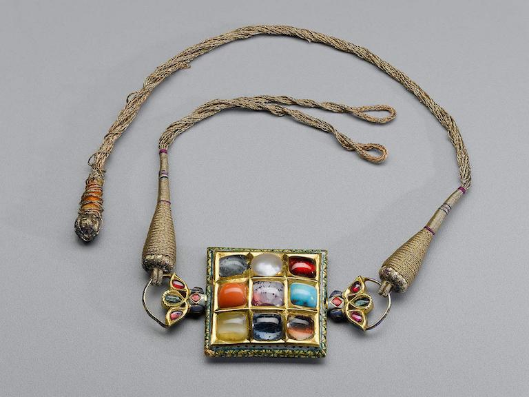 Navaratna gems set on a wristlet. 18th Century. India, Punjab. Cleveland Art Museum.