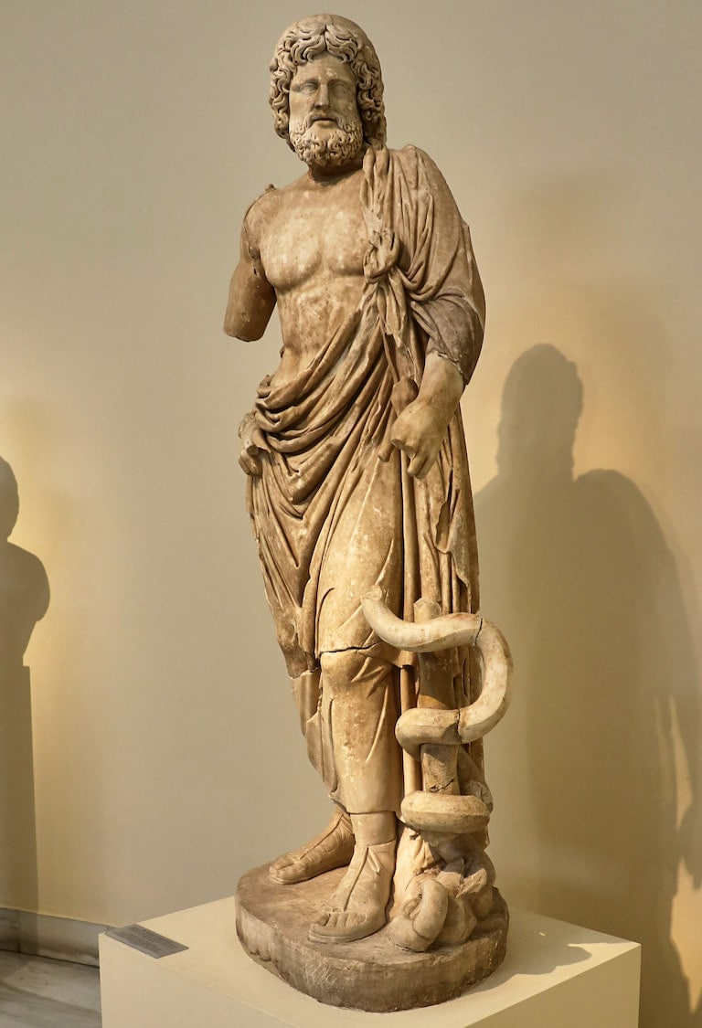 Statue of Asclepius. 2nd century AD