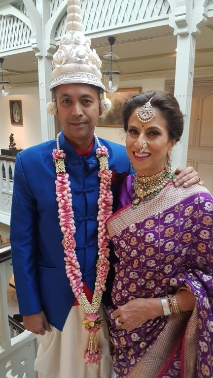 Shobhaa with her son, Ranadip