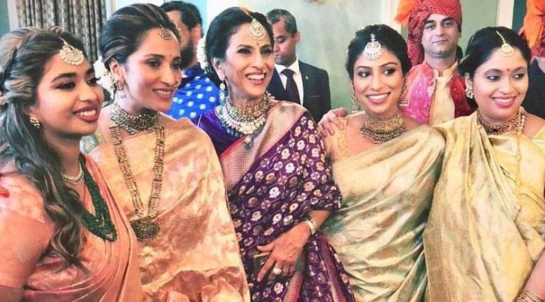 Shobhaa De at her son's wedding