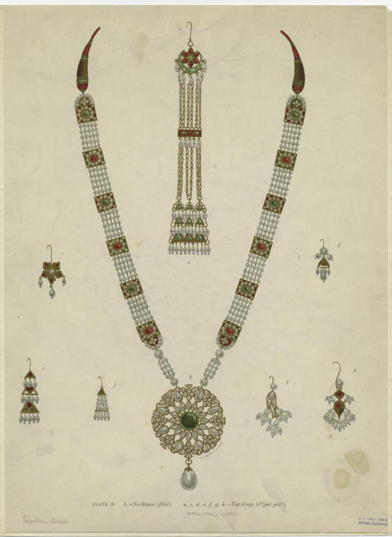 Necklace (Har) ; Ear-Rings (Pipal Pati).