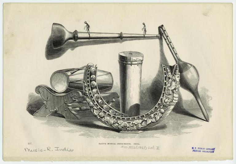 Makara Yazh. Makara shaped musical instrument.