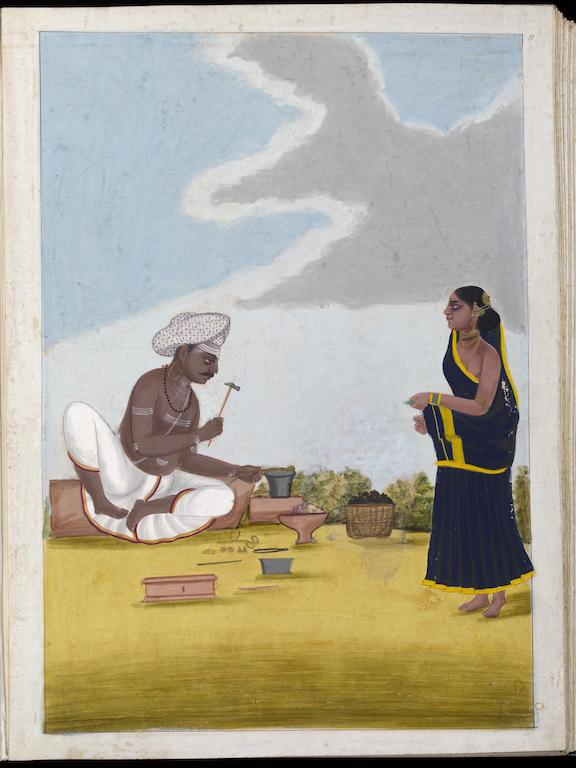 Painting. Goldsmith and his wife. Tanjore. 1805. © Victoria and Albert Museum, London