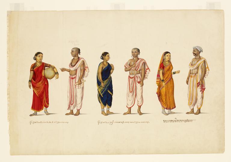 Three Brahmin Couples. 1830. Tanjore. © Victoria and Albert Museum, London
