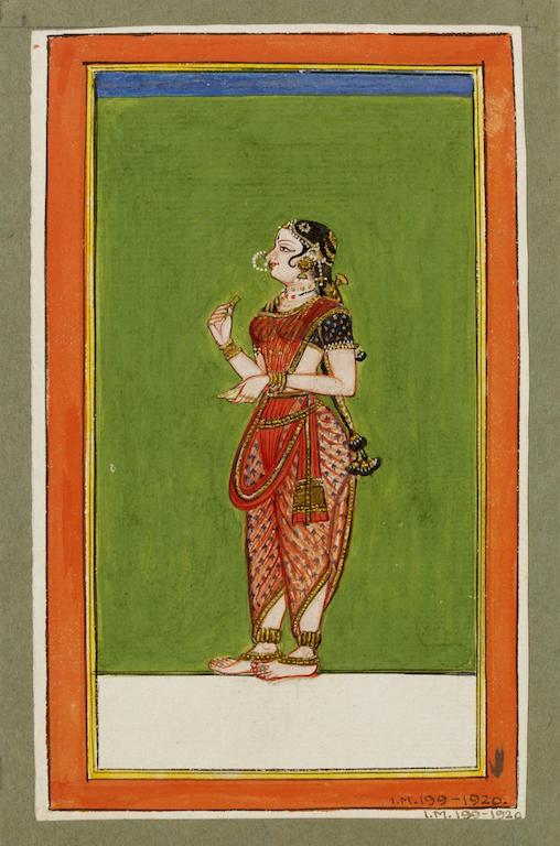 Tamil dancing girl. Tanjore. 1830