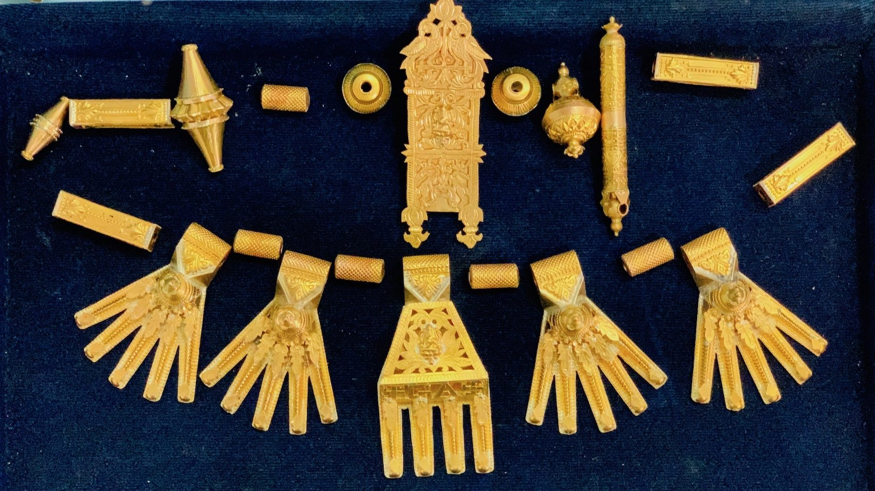Parts of a kalathiru necklace