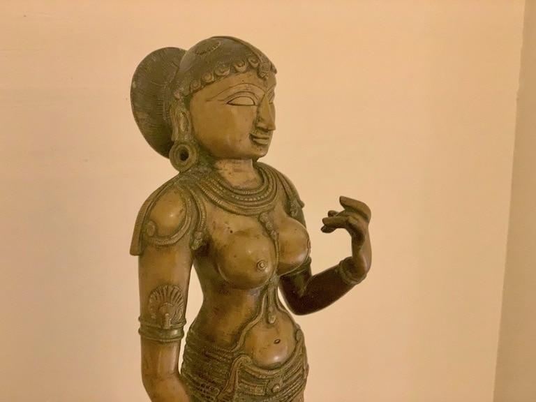 Sivagami bronze statue.