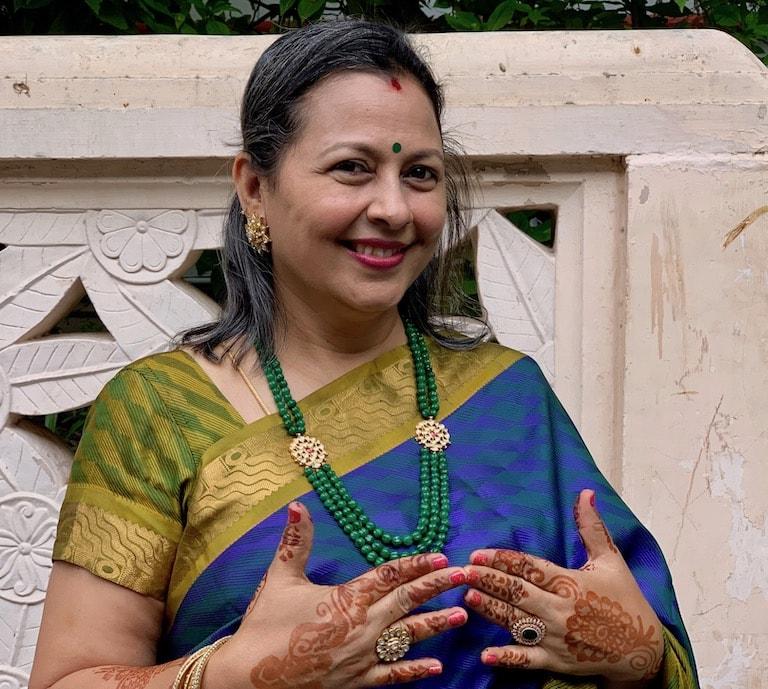 Shailaja Jayaraman at a Chennai wedding