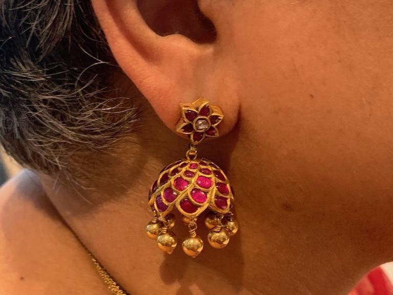 Kempu jimmiki or earring