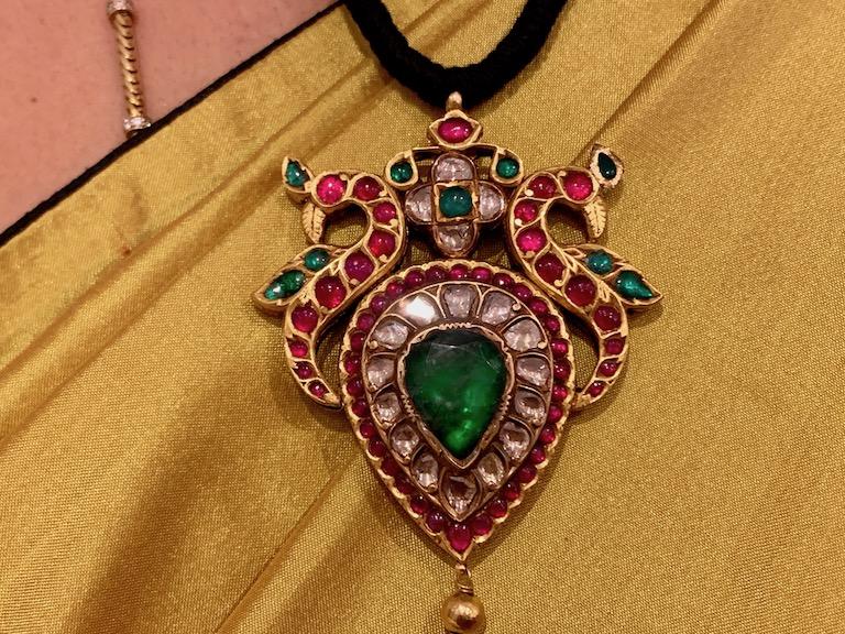 Pendant Tamilnadu. Temple jewellery.