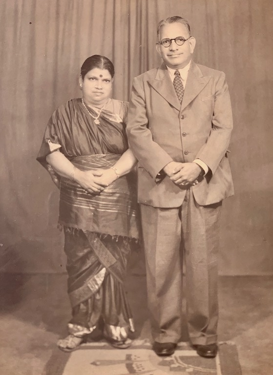 Archival image of a Tamil couple