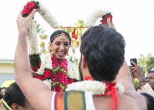 The Tamil bride. Nithya Krishnan on her wedding day.